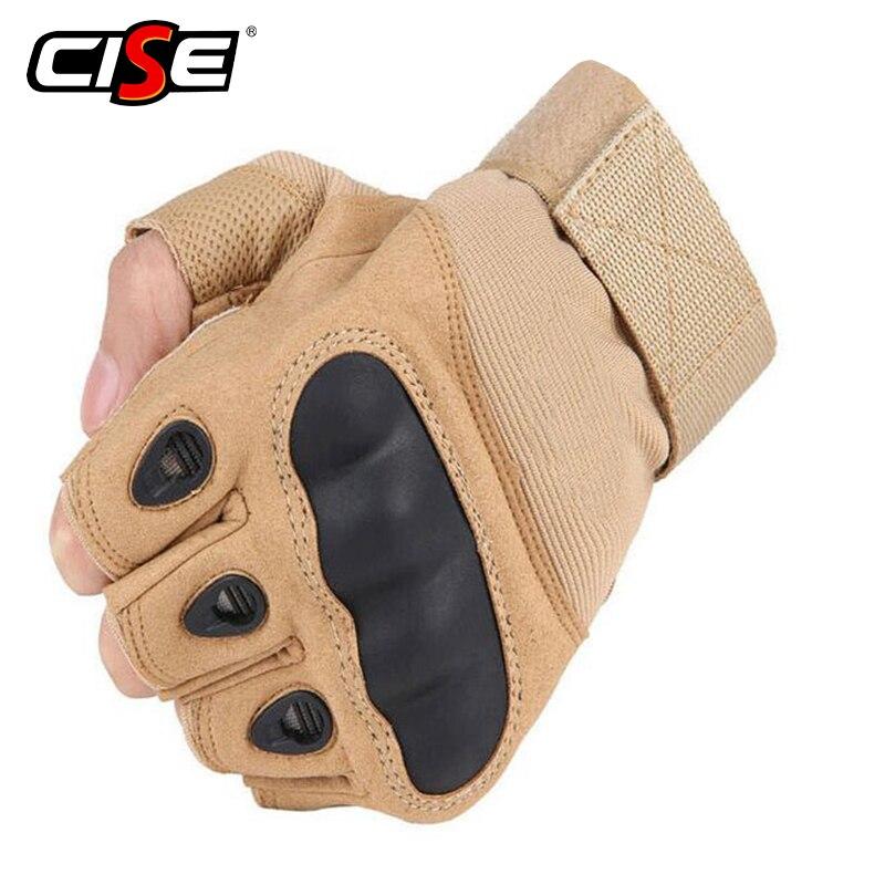 Motorcycle Fingerless Gloves Hard Knuckle Motorbike Motocross