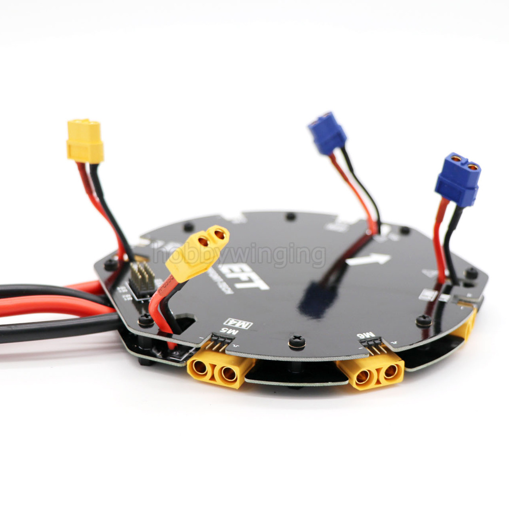4/6-axis Agricultural Drone 12S 480A Power Supply Board with Extension line High Current Distribution Board for Quad/Hexa copter tator rc x4 x8 quad x6 hexa copter carbon fiber main plate upper cover board tl4x006 tl6x003 tl8x019