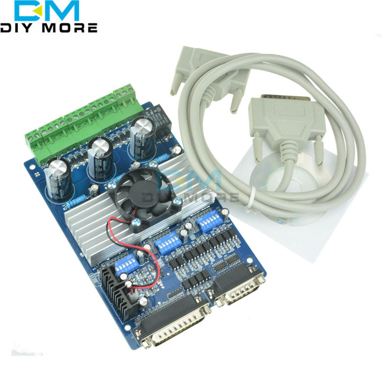 3 Axis CNC Stepper Motor Driver Controller Board 3.5A TB6560 cnc 3 axis controller tb6560 stepper motor driver board with 0 10v spindle regulation one db25 caple