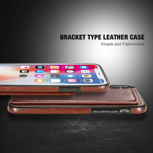 KISSCASE Retro PU Leather Case For iPhone 8 7 X 6 6s Plus XS Max XR Card Slot Holder Cover For Samsung S8 S9 Plus Note 8 9 Funda