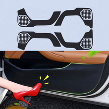 4pcs Car Door Side Edge Anti kick Protection Film Carbon Fiber Sticker For Honda URV