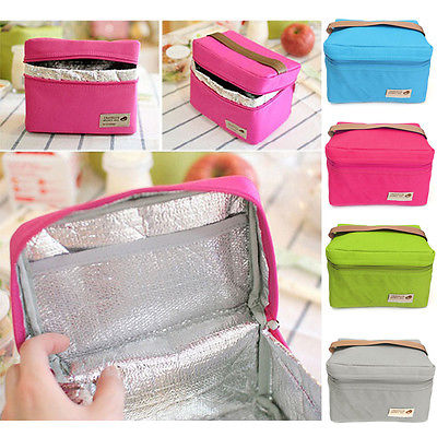 Fashion Portable Thermal Insulated Cooler Picnic Lunch Box Travel Carry Kitchen Storage Boxex Bags