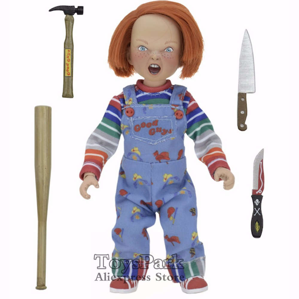 ToysPark NECA Reel Toys Series 5 CHUCKY Good Guys Retro Clothed Action Figure Child's Play Doll coleccionable Gifts 8 Scale nuevo
