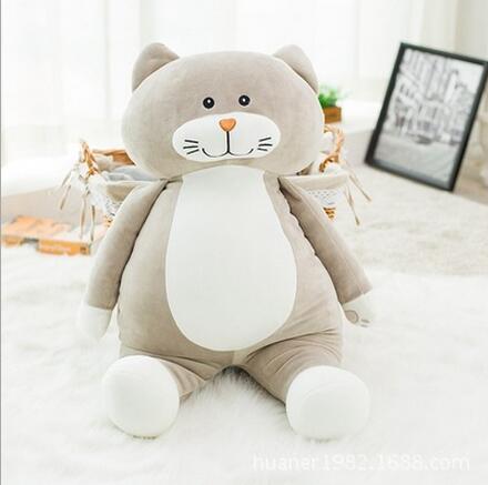 75 cm grande taille chat poupées apaiser dormir oreiller en peluche jouets de haute qualité super doux remplissage jouets - 3