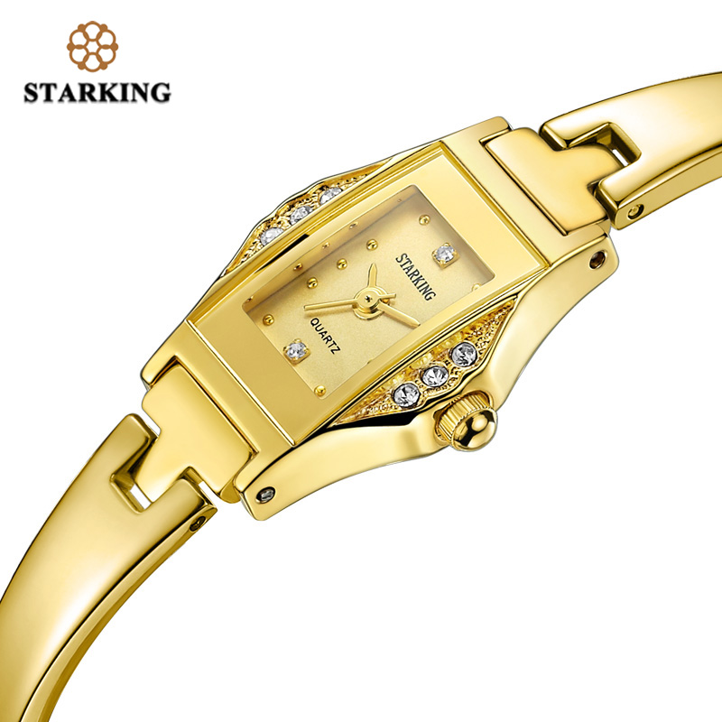 STARKING Hot Selling Women Quartz Watch Full Steel Diamond Wristwatch Fashion Ladies Luxury Gold Rhinestone Watches Klockor 2016 new plus size swimsuit floral print black vintage halter sheath one piece swimsuit swimwear women monokini m xxxl swim suit