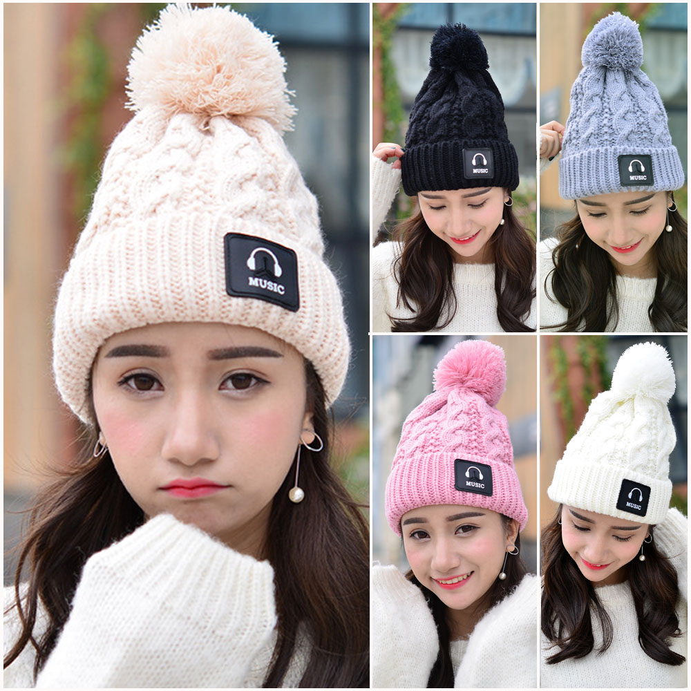 Women Fashion MUSIC Winter Knitted Crochet Hat Outdoor Beanie Slouch Cap CS162 HATCS0162