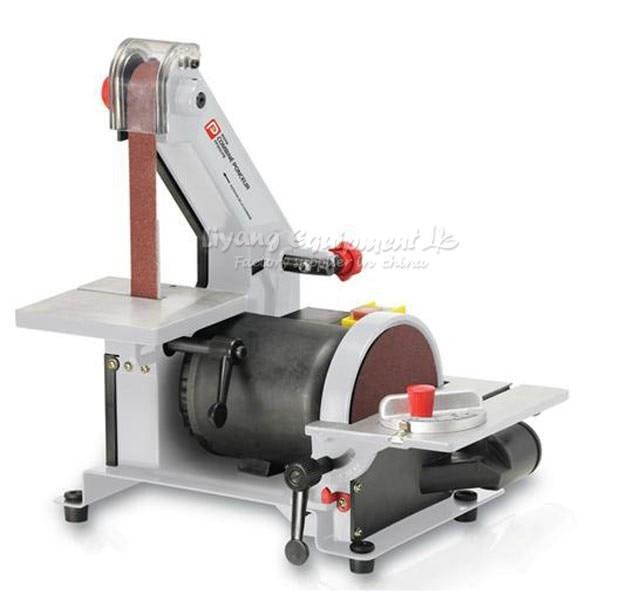 25 * 762mm electronic belt sander polishing machine & vertical grinder vertical type abrasive belt sander polishing grinding small bench 915 belt machine q10029