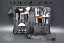 Professional Black Two Arrays Makeup Brush Bag