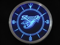 nc0562 Toronto Blue Jays Neon Sign LED Wall Clock