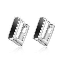 Everoyal Trendy Male Silver Hoop Earrings Jewelry Women Charm Black Earring For Men Accessories 925 Boy Birthday