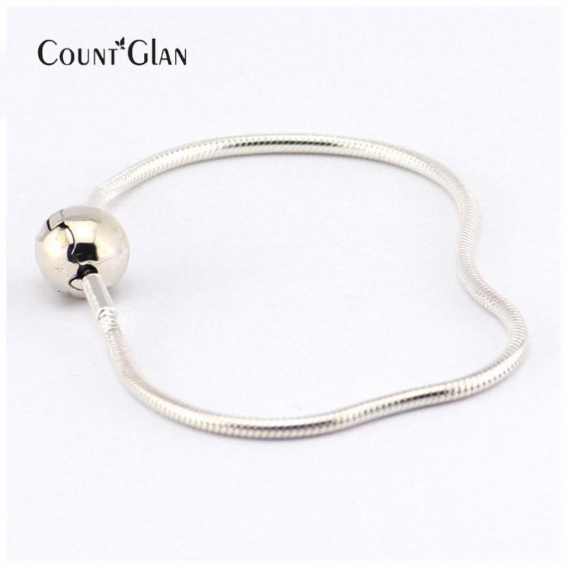 100% 925 En Argent Sterling 2.5 MM Essence Bracelet Fit Essence Charme Perles DIY pour les Femmes Fine Jewelry livraison gratuite