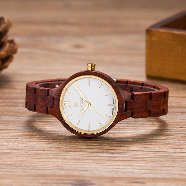 2016 Sandalwood Wood Watch Women`s Luxury Watches Fashion Quartz Watch Women Dress Watches Ladies Wristwatch Hours Montre Femme