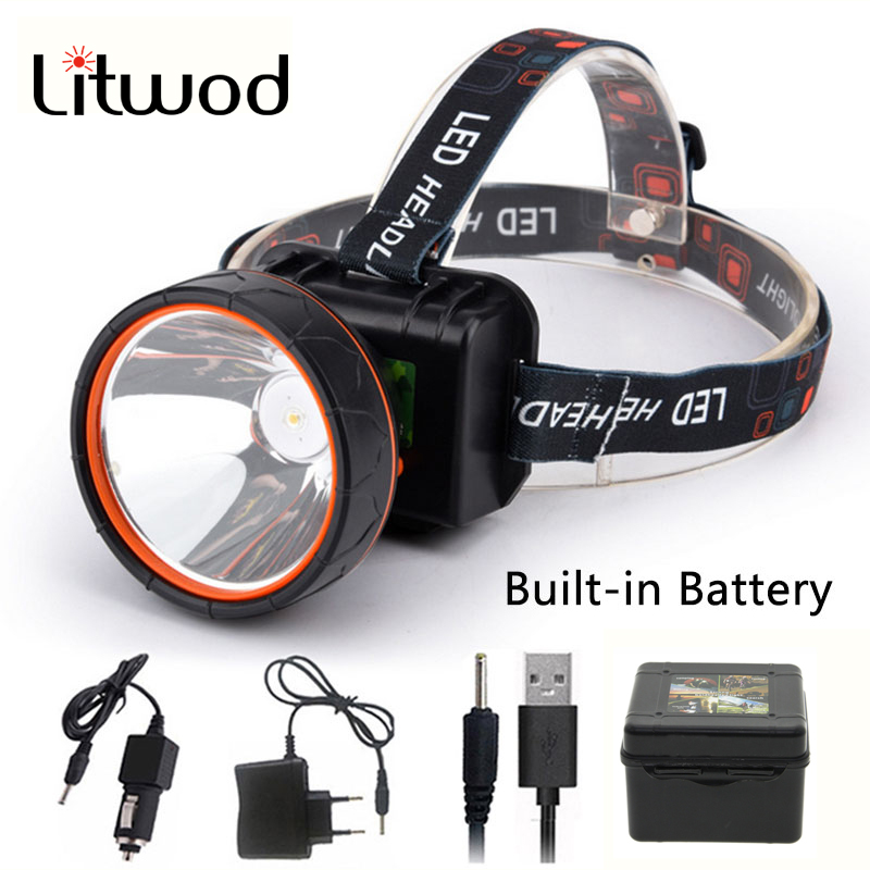 Litwod Z35 T6 Head Light Led Bright Headlamp Head Flashlight LED Headlight Build-in Rechargeable Battery Head Lamp for fishingLitwod Z35 T6 Head Light Led Bright Headlamp Head Flashlight LED Headlight Build-in Rechargeable Battery Head Lamp for fishing