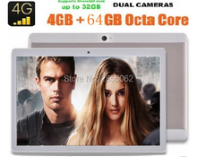 DHL Libre 10 pulgadas tablet Octa Core 3G 4G LTE 4 GB RAM 64 GB ROM Cámaras Dual SIM 1280*800 IPS Android 6.0 GPS Tablets pc