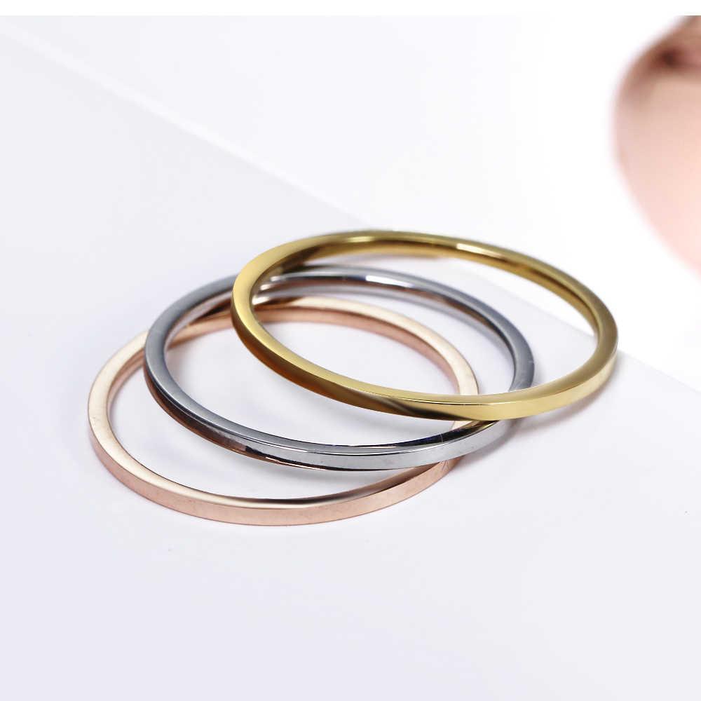 הגעה חדשה נשים אירופה סגנון נירוסטה תכשיטי פלדת טבעות צבע זהב עלה 3 יח'\סט טבעת אירוסין