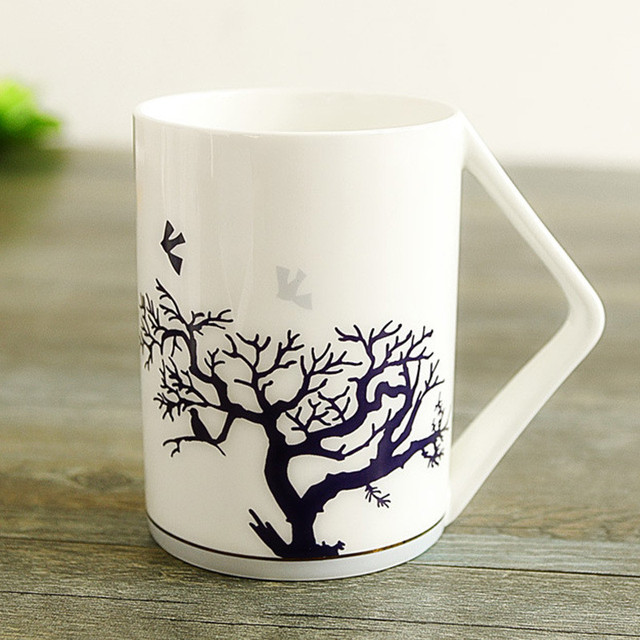 Chinese Bone China Mug Large Capacity Coffee Creative Cups Ceramic Mugs For Tree Safety