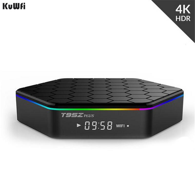 KuWFi Smart TV BOX Android 7.1 TV BOX décodeur 2 GB/16 GB 3 GB/32 GB Amlogic S912 Octa Core 2.4G/5GHz WiFi BT4.0 4K décodeur