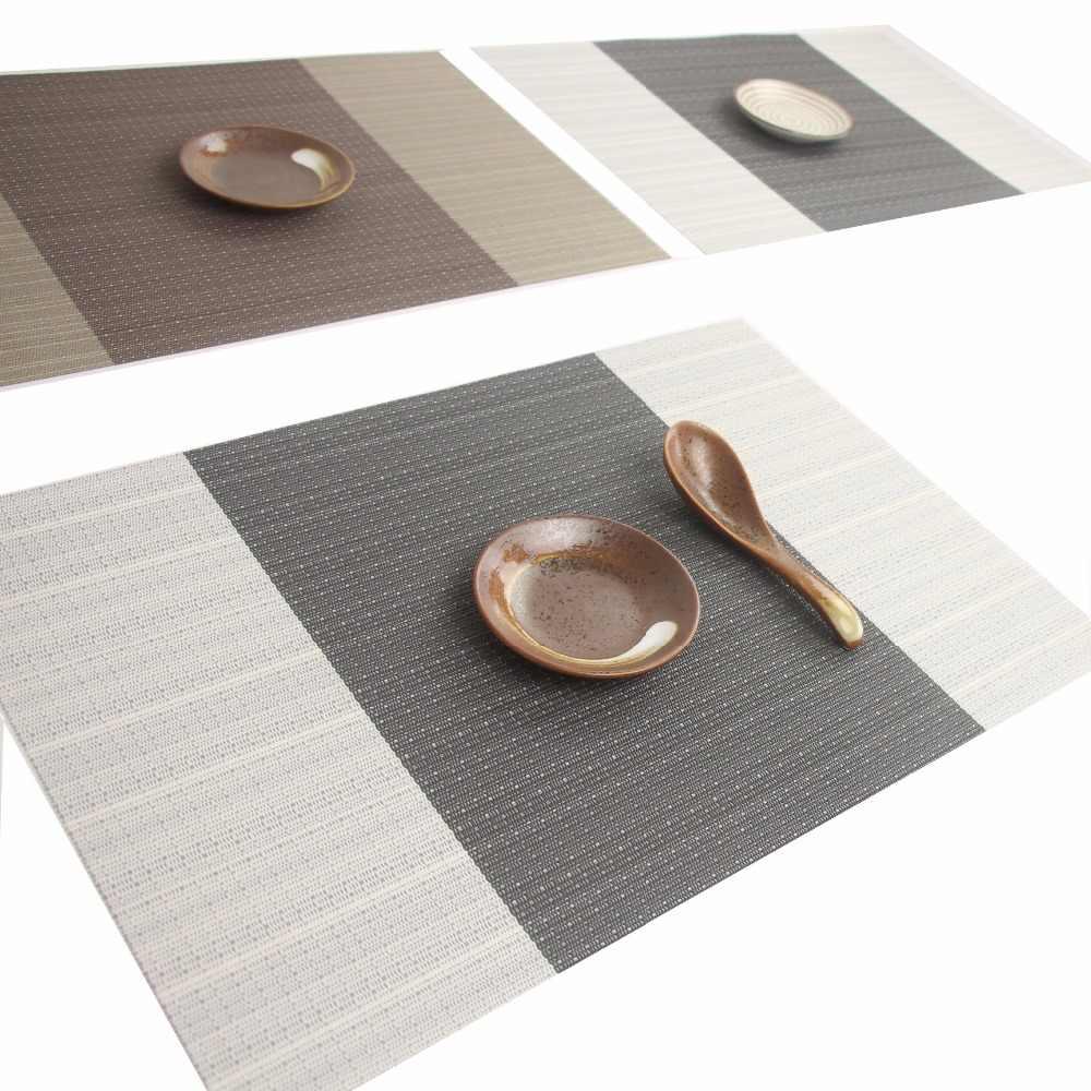 4pcs Lot Dinner Placemat Pvc Dining Table Mat Disc Pads Bowl