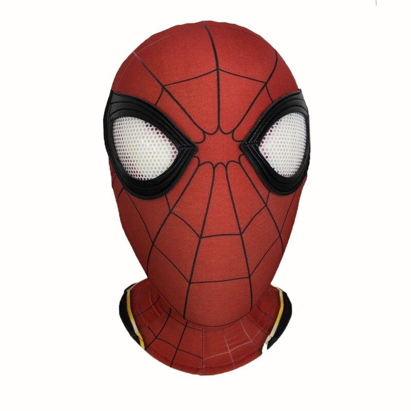 Spiderman Mask Zentai Spider-man Hood Lycra Iron Spider Mask with Lense/Eyes