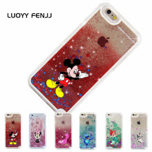 LUOYY FENJJ Cat Quicksand Case For iPhone 6 6s 7 Plus 5 5s SE Hard PC Back Cover Liquid Case For iPhone 7 8 Plus X 10 Coque цена