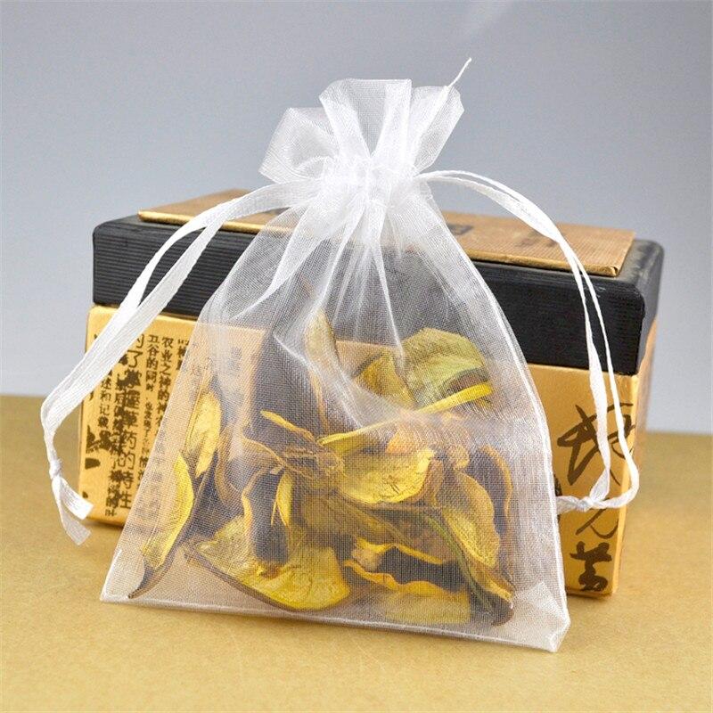 881a69767 100 unids/lote 20x30 cm blanco organza bolsa grande boutique embalaje Bolsas  favores de la boda del partido cordón bolsa de regalo