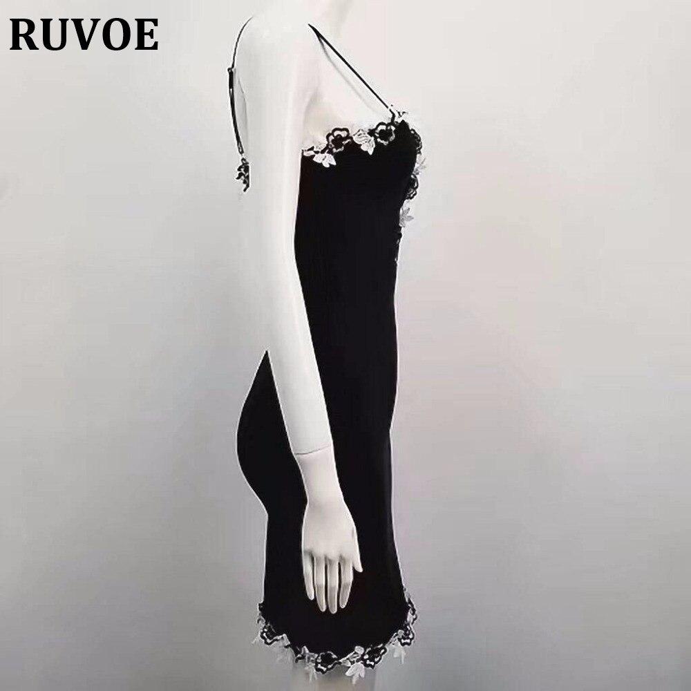 Robes Sexy Femmes Celebrity Dentelle Noir V Moulante Femme Mode Rayonne Bandage Q 63 Cou Floral De Party Robe 2017 cRqS35A4Lj