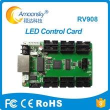Linsn rv908 full color led interface combinado com linsn ts802d cartão receber com hub75 12 ts901d
