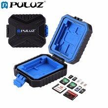 Puluz 11 в 1 случай для карт памяти 3SIM + 2XQD + 2CF + 2TF + 2SD карты