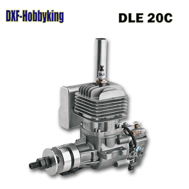 2017 DXF bonne qualité DLE 20 20CC moteur à essence d'origine 20CC moteur pour RC avion modèle vente chaude, DLE20CC, DLE20