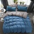 Простой комплект постельного белья с модемом  5 размеров  серый  синий  комплект постельного белья  4 шт./компл.  пододеяльник  пододеяльник бо...