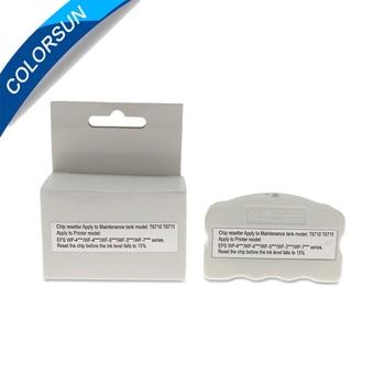 T6710 T6711 Maintenance Tank Chip Resetter For Epson WP-4010 WP-4015 WP-4525 WP-4530 WP-4540 WF-5110 WF-7110 WF-7610 PX-B750F 4 piece set t6761 t6764 t676 auto reset chip for epson wp 4530 wp 4010 wp 4020 wp 4023 wp 4090 printer cartridge chips