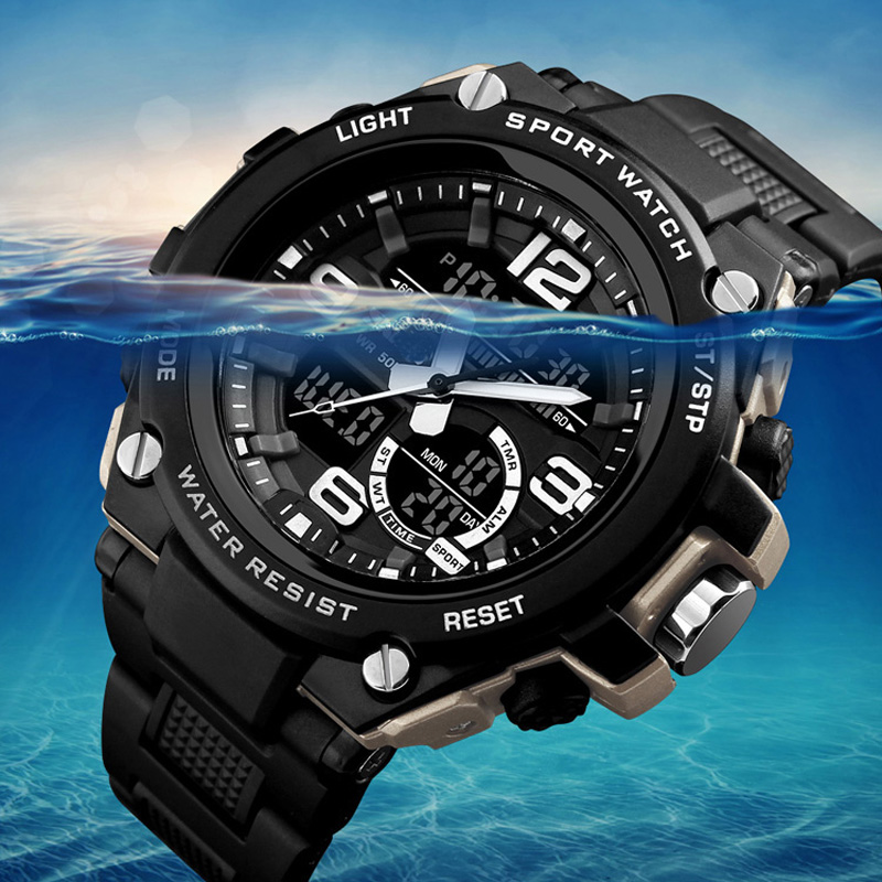 2019 Free Shipping 100M Waterproof Men Sports Watches Digital Swimming Dive Military Wristwatches Big Relogio Masculino Hodinky
