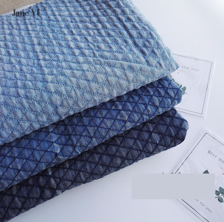 JaneYU 2019 nouvelle veste en Denim avec tissu en coton et coton matelassé pour veste