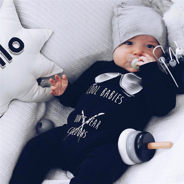 a302ca00c Winter Babys Clothes Newborn Infant Baby Boys Girls Letter Printed ...