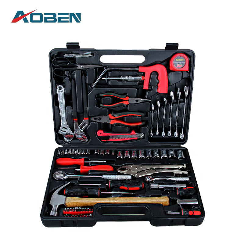 AOBEN 92pcs/set Multifunction Combination Hand Tool Sets Auto Repair Tools Combination Car Kit Box Applied Household Tool Set jetech tool 15pc set combination household repair hand tool set toolkit box for tools