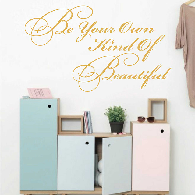 to be your own kind of beautiful coco chanel quotes wall sticker for