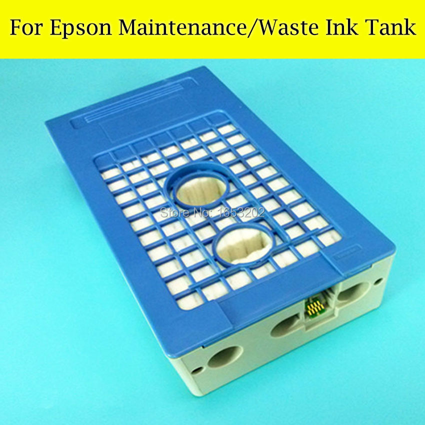 1 Piece Maintenance Tank Box For EPSON Surecolor T6871 T30600 T5270 T50600 T70600 S30610 S50610 Printer Waste ink Tank best price stable maintenance ink tank for epson surecolor t3070 t5070 t7070 printer waste ink tank