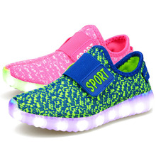 Eur25-37//USB Rechargeable Kids Basket Led Children Shoes With Light Up Glowing Sneakers Luminous Shoes for Boys&Girls