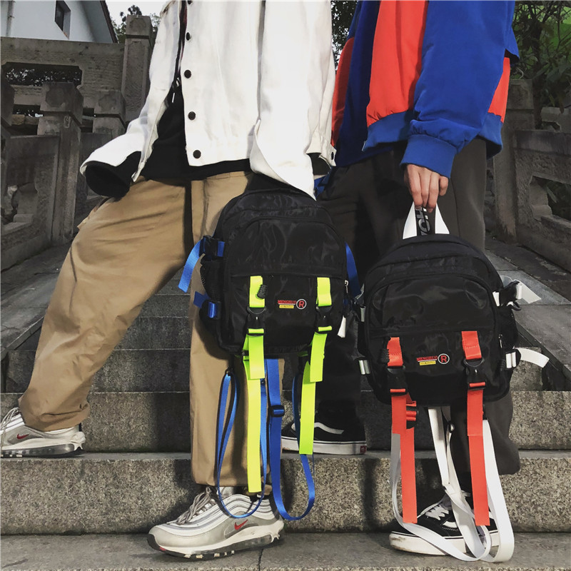 Unisex Backpack Tactical Streetwear Shoulder Bag Nylon Waterproof Black Small Travel Bagpack Hip Hop Sports Backpacks Woman New
