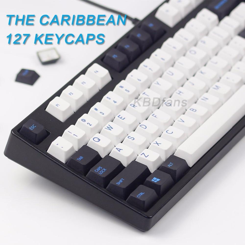 KBDfans nouvelle arrivée pbt keycay colorant subbed keycaps chrrey profil ensemble complet diy mécanique keyboar