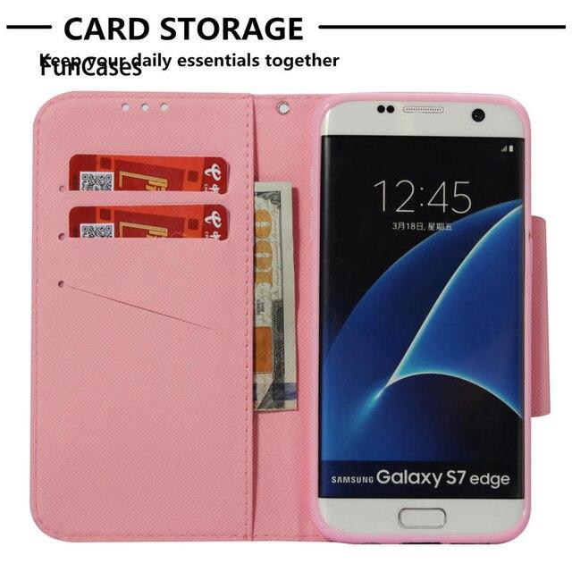 Coque de téléphone de bouton daimant de grande taille pour Samsung Galaxy S7 edge SM-G935F housse en cuir dunité centrale S7edge SM-G935FD