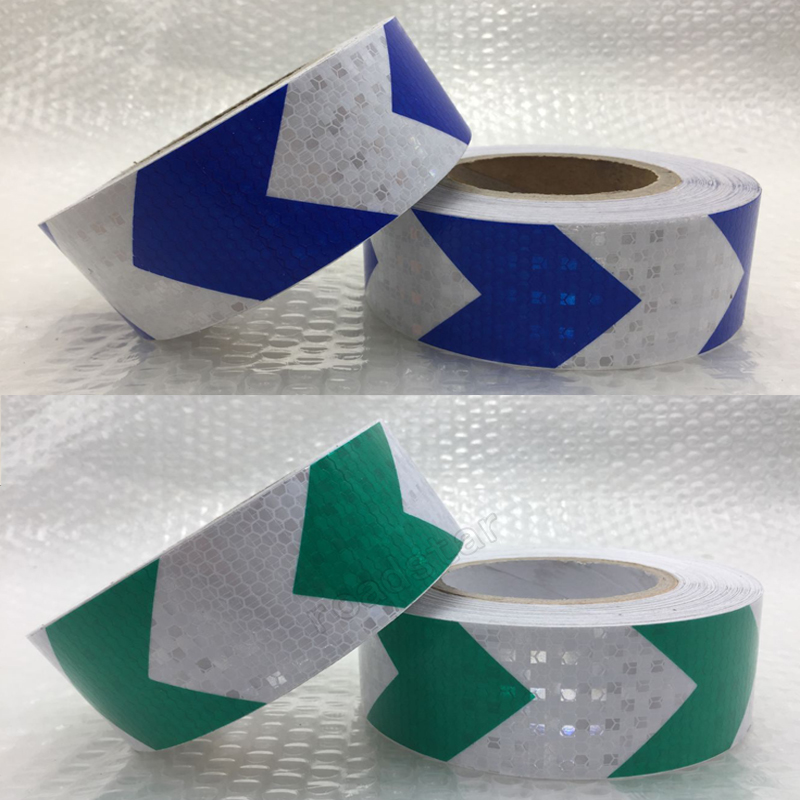 50mmx25m Shining Reflective Warning Tape With Arrow Printing For Car