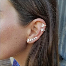 RscvonM 3PCS/SET Bohemian Moon Star Crystal Studs Earring Set for Women Girl Metal Geometric Stud Earring Eaf Cuff Pendientes(China)
