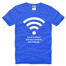 hombre カスタマイズされたワイヤレスwifiレタープリントメンズ男性tシャツtシャツ2016新しい半袖oネックカジュアルtシャツtシャツcamisetas