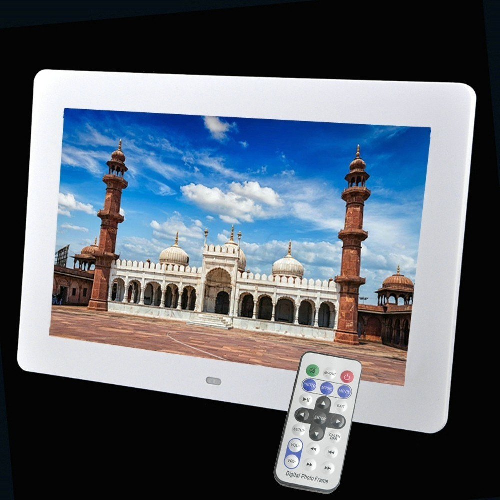 New 10 Inch LED Backlight HD 1024 x 600 Wide Screen Photo Frame Electronic Album Photo Music Video Good Gift 2015 new 7 inch digital photo frame ultra thin hd photo album lcd advertising machine