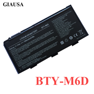 7800Mah New Best BTY-M6D Laptop Battery for MSI GT60 GT70 GX780R GX680 GX780 GT780R GT660R GT663R GX660 GT680R GT783R