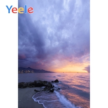 Yeele Sunset View Seaside Vacation Wedding Portrait Photography Backdrops Cloudy Sky Photographic Backgrounds For Photo Studio