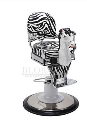 New children's clipping chair. Baby hair chair. Miniature white horse barber chair. Lift.. hair salon barber chair hairdressing chair put down the barber chair
