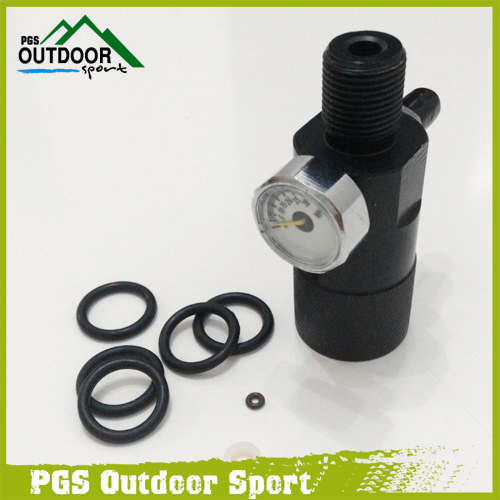 PCP Air Gun Rifle HPA High Pressure Air Test Pressure Adapter Connector Joint Double Hole M18 * 1.5 Threads 30MPA
