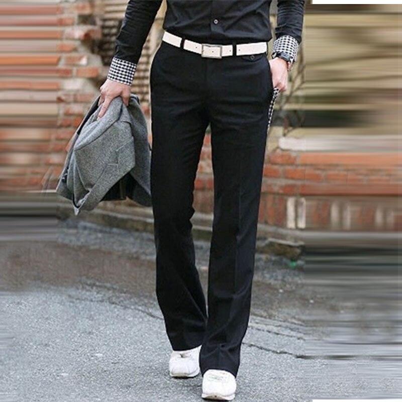 Business Bell Bottom Pants Men's Slim Vertical Straight Trousers British Korean Suit Men's Pants Drooping Big Pants Size 28-37